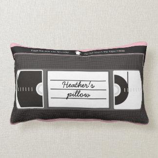 Vectorized Vanity Videotape Lumbar Pillow
