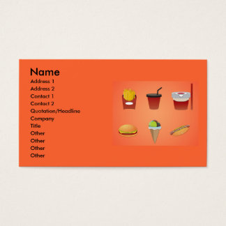 vectorvaco_food_vectors_09111002_large, Name, A... Business Card