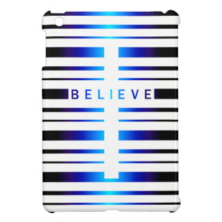 Vega Blue Believe Cross Stripes iPad Mini Case