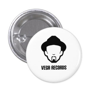 Vega records 1 inch round button