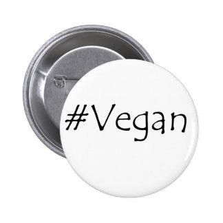 #Vegan 2 Inch Round Button