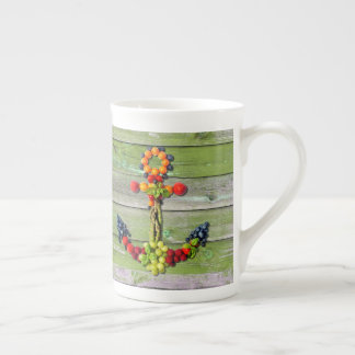 VEGAN ANCHOR Green Wood Wall Tea Cup
