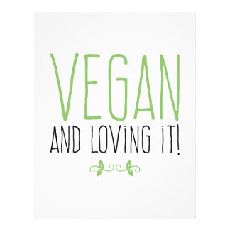 Vegan and loving it! letterhead