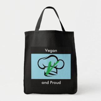 Vegan and Proud Grocery Tote bag