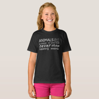 Vegan 'animals don't have a voice...' top