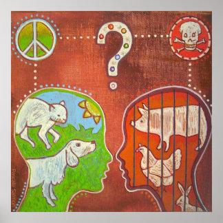 Vegan anti speciesism Poster