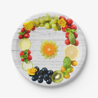 Vegan Art White Wood Wall Paper Plate