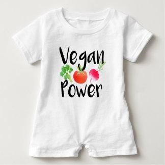 """Vegan Baby Powers"" Baby Romper"