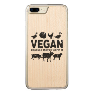 VEGAN because they're worth it (blk) Carved iPhone 8 Plus/7 Plus Case