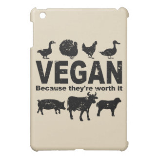 VEGAN because they're worth it (blk) Case For The iPad Mini