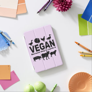 VEGAN because they're worth it (blk) iPad Mini Cover