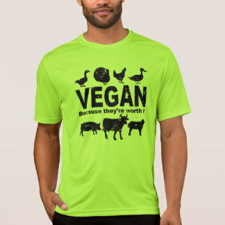 VEGAN because they're worth it (blk) T-Shirt