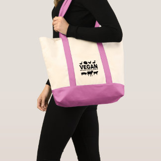 VEGAN because they're worth it (blk) Tote Bag