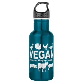 VEGAN because they're worth it (wht) 532 Ml Water Bottle