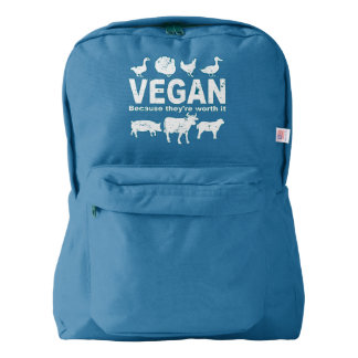 VEGAN because they're worth it (wht) Backpack