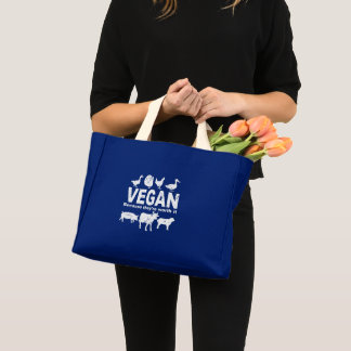 VEGAN because they're worth it (wht) Mini Tote Bag