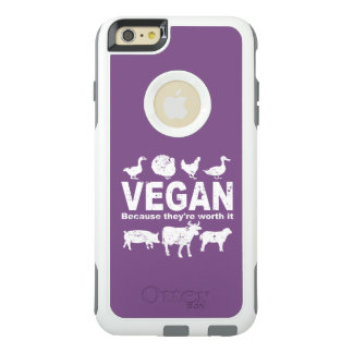 VEGAN because they're worth it (wht) OtterBox iPhone 6/6s Plus Case