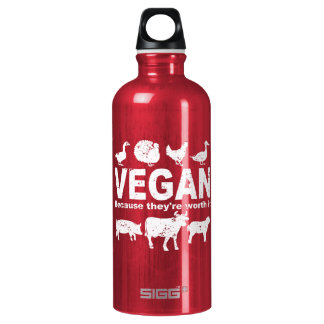 VEGAN because they're worth it (wht) Water Bottle