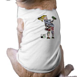 Vegan Bob Vegan Beer Drinking Pinup Girl Shirt