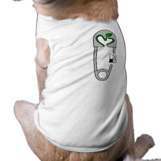 Vegan Bob Vegan Love Safety Pin T Shirt