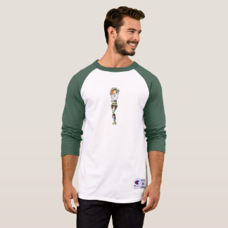 Vegan Bob Vegan Tattooed Pinup Baseball Shirt