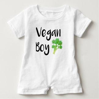 """Vegan Boy"" broccoli baby Baby Romper"