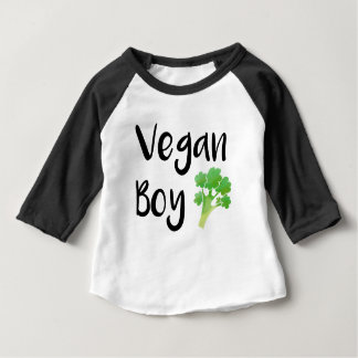 """""""Vegan Boy"""" broccoli baby Baby T-Shirt"""