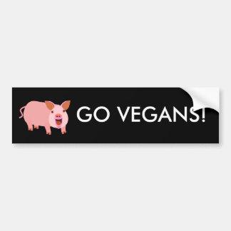 Vegan Bumpersticker Car Bumper Sticker