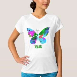 Vegan ~ Buterfly Women's Sport-Tek Fitted T T-Shirt