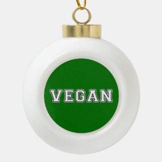 Vegan Ceramic Ball Christmas Ornament