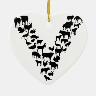 Vegan Ceramic Heart Ornament