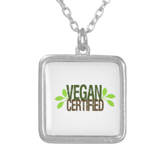 Vegan Certified Silver Plated Necklace