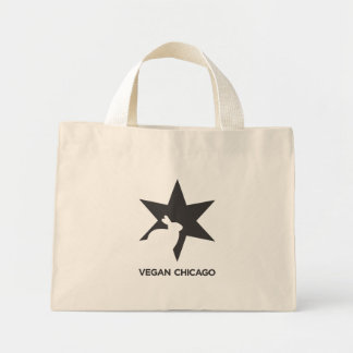 Vegan Chicago Standard Black & White on Bag