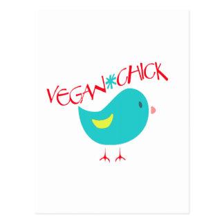 Vegan Chick Post Card
