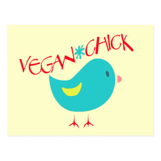 Vegan Chick Post Cards