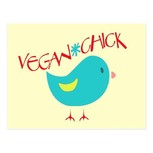 Vegan Chick Post Cards