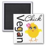 Vegan Chick Square Magnet