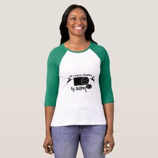 Vegan Christmas all i want for christmas is Seitan T-Shirt