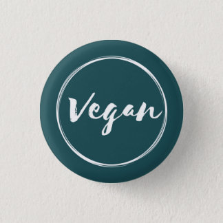 Vegan Circle blue 1 Inch Round Button