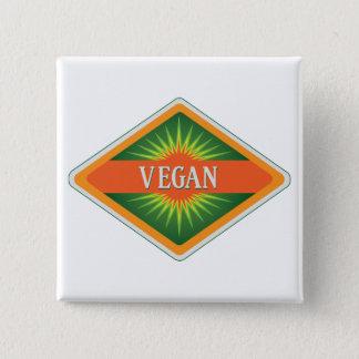 Vegan Colors Logo 2 Inch Square Button