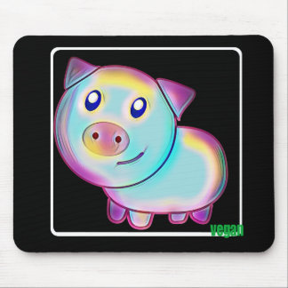 Vegan coloured pig mouse pad