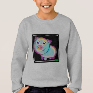 Vegan coloured pig sweatshirt