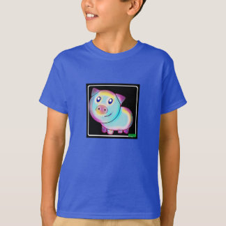 Vegan coloured pig T-Shirt