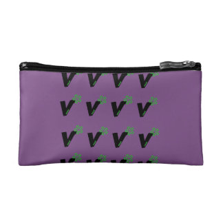 Vegan Cosmetic Bag Purple  Victory Gift Holiday