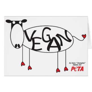 Vegan Cow Card
