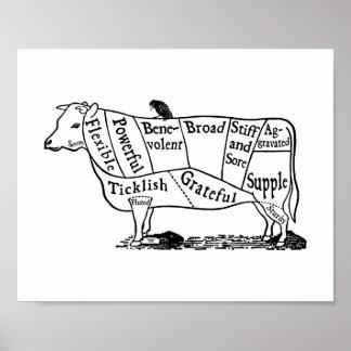 Vegan Cow Poster