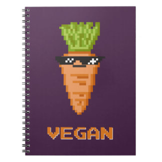 """Vegan """"Deal With It"""" Carrot Notebooks"""