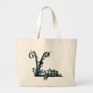 vegan design large tote bag