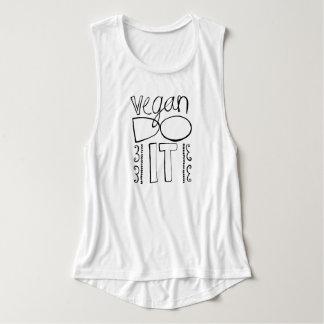 Vegan Do It! <3 Flowy Muscle Tank Top