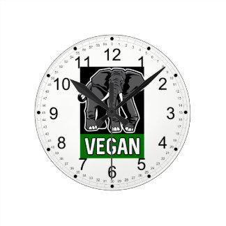 Vegan Elephant Round Clock